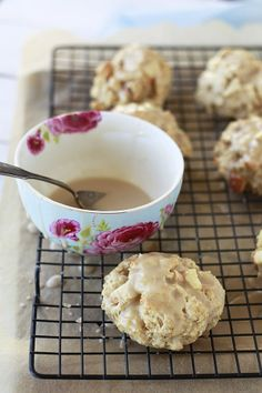 GF, DF, SoyFree -Healthy Apple Maple Scones Just substitute in non-dairy milk and be sure to use gf oats.