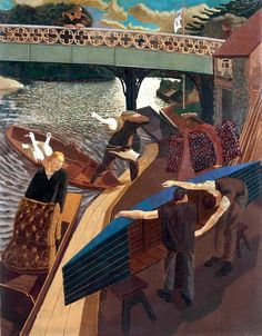 """bofransson: """" Sir Stanley Spencer, Swan Upping at Cookham 1915-19 """""""