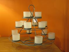 Tealight Pyramid - by Laguna Furnishings - Accessories, Gifts & More in Westlake Village CA - http://www.lagunafurnishings.com/catalog/accessories