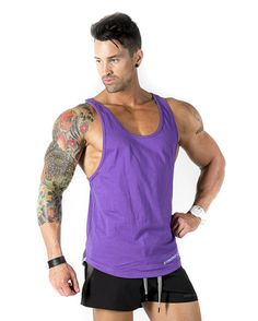 4b655da4b98f6 Aesthetic Series V2 T-Back - Grey.  strongliftwear Core Taperback - Purple   amp  Blue  aesthetic  singlets  fitness