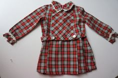 Vintage plaid girl dress by MaiaIsabella on Etsy, $18.00
