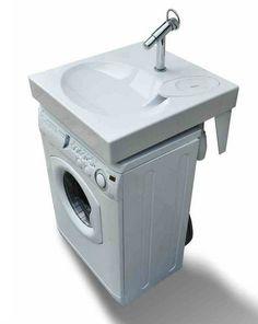 Space Saving Washbasin,Flat Bathroom Sink Fits Above Washing Machine