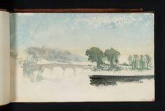 Joseph Mallord William Turner 'A River Scene with Trees and a Bridge', c.1825