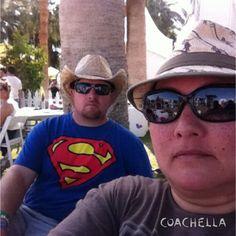 Backstage selfie with hubby. Coachella 2014.
