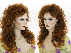 Long curly wavy gypsy shag style wig. The hair is made from the finest modacrylic, Eleora fiber, origin Japan. Wig Secret, features premium quality, natural looking wigs, which are adjustable to fit most head sizes. | eBay!