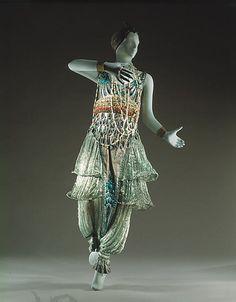 Paul Poiret Dress,Inspires by Ballet Russe Costumes Paul Poiret, Robes Western, Western Dresses, Historical Costume, Historical Clothing, Edwardian Fashion, Vintage Fashion, Style Édouardien, Vintage Dresses