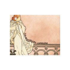 Alphonse Mucha Art Deco Stretched Canvas Print