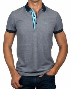 Polos HUGO BOSS ® Azul Marino ✶ Palue 4 | ENVIO GRATIS Polo Rugby Shirt, Mens Polo T Shirts, Hugo By Hugo Boss, Camisa Polo, Stylish Men, Men Casual, Casual Shorts Outfit, Le Polo, Mens Clothing Styles
