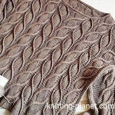 Lace Knitting Patterns, Knitting Designs, Knitting Stitches, Knitting Projects, Stitch Patterns, Cable Knitting, Knit Fashion, Crochet Yarn, Crochet Clothes