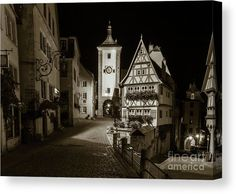 Rothenburg ob Tauber Clock Tower Canvas Print / Canvas Art by Norma Brandsberg Shadow Frame, Shadow Art, Poster Prints, Framed Prints, Art Posters, Thing 1, Canvas Art, Canvas Prints, Wood Print