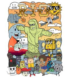 Arte A CARA DO RIO - RIO TUDO de Felipe Navega!! Disponível em camiseta, poster…