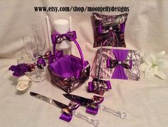 Check out our purple camo wedding selection for the very best in unique or custom, handmade pieces from our shops. Plan My Wedding, Wedding Pins, Wedding Set, Purple Wedding, Wedding Stuff, Our Wedding, Dream Wedding, Spring Wedding, Wedding Colors