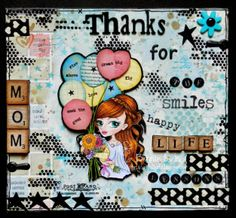 As you know, our theme for this month's freebie challenge is Die Cuts or Punches and we have the sweet Aurora image, L. East Wind, Dream Big, Thankful, Challenges, Paper Crafts, Seasons, Lettering, Cakes, Day