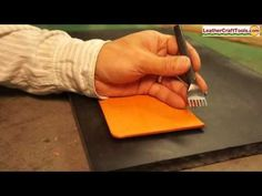 Creating stitching holes with Diamond Hole Punches - LEATHERCRAFT - YouTube