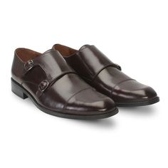 a1fe51589776 Buy  DarkBrown  Leather Double Monk Strap  FormalShoes Online at Best Price  Formal Shoes