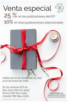 Blog de la Editorial del Instituto de Cultura Puertorriqueña: Venta especial de Navidad