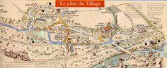 Auvers-sur-Oise  plan du village
