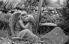 Buy beautiful and unique wall art. Prints and canvasses professionally produced from images of nature, architecture and anything beautiful which catches my eye.   Angel wall art canvas grave black and white print photo memorial headstone decor wall art Bedroom hallway living room  Straw House Art on Etsy