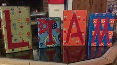 Robot theme Robot Classroom, Robot Theme, Name Blocks, Baby Shower, Painting, Art, Babyshower, Art Background, Painting Art