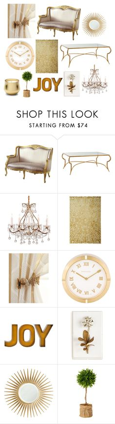 """Dream Living Room"" by unicorn1019 ❤ liked on Polyvore featuring Arteriors, Antique Drapery Rod, Tiffany & Co., Tommy Mitchell, Barclay Butera, FOSSIL and living room"