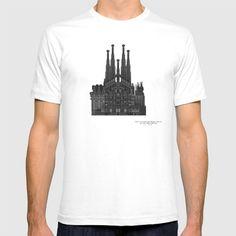 HexArchi - Spain, Barcelona, Basilica and Expiatory Church of the Holy Family T-shirt by LAA-Laboratório De Arquitectura E Arte | Society6