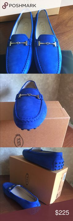Tod's shoes Beautiful blue driving Mocs in suede by Tod's Tod's Shoes Moccasins