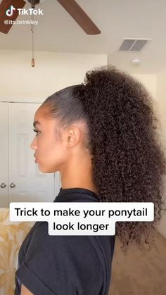 Cute Curly Hairstyles, Curly Hair Tips, Baddie Hairstyles, Curly Hair Care, Diy Hairstyles, Curly Hair Styles, Natural Hair Styles, Mixed Curly Hair, Curly Ponytail