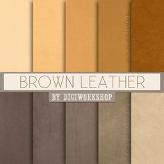 """#Brown #Leather Digital Paper: Leather Textures or Leather Digital Backgrounds - """"Brown Leather""""   10 digital paper """"Brown Leather"""" this is digital leather backgrounds with  ... #etsy #digiworkshop #scrapbooking #illustration #creative #clipart #printables #crafting #supplies #leather #brown #neutral #natural #texture"""