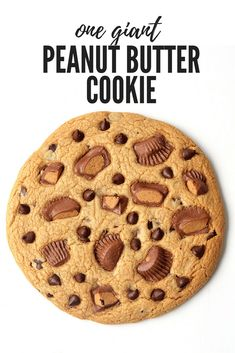 Giant Peanut Butter Chocolate Chip Cookie - Sweetest Menu