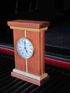 Mantle Clock - Woodworking Project Picture Photo Gallery with Furniture, Cabinetry, Musical Instruments, and More