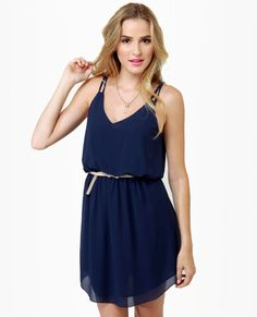 Bayside Navy Blue Dress     casual dress