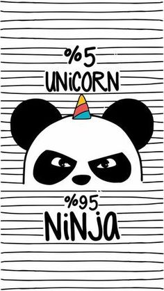 Find Cute Pandaninja Panda Unicorn stock images in HD and millions of other royalty-free stock photos, illustrations and vectors in the Shutterstock collection. Hipster Drawings, Animal Drawings, Art Drawings, Iphone Wallpaper Black, Wallpaper Backgrounds, Panda Wallpapers, Funny Wallpapers, Ninja, Panda Mignon