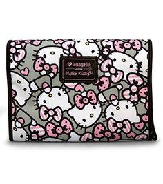 af5706d7bc0c Hello Kitty Pink Grey All Over Print Toiletry Case Hello Kitty Items