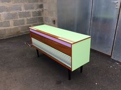 Mid century Upcycled 1950s record player & radiogram