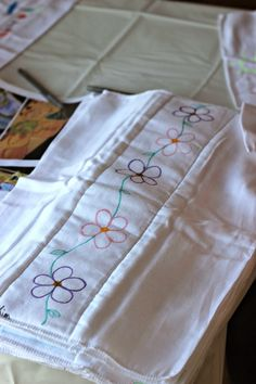 Burp Cloth Decorating Station: Baby Shower Activity!
