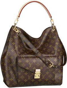 LV Metis. Not too fond of the monogram line anymore cause of the leather patina, but this bag has a long canvas strap along with a leather top handle - both detachable