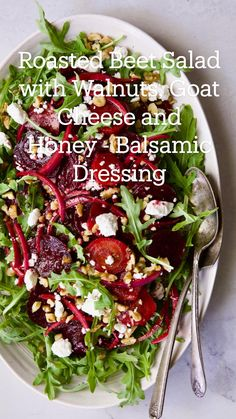 Roasted Beet Salad, Beet Salad Recipes, Summer Salad Recipes, Veggie Recipes, Whole Food Recipes, Vegetarian Recipes, Cooking Recipes, Healthy Recipes, Best Summer Salads