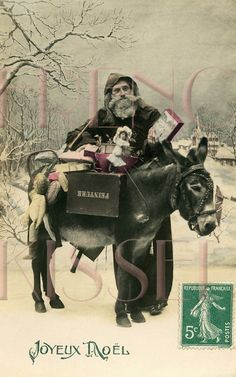 'french Victorian St. Nick with donkey