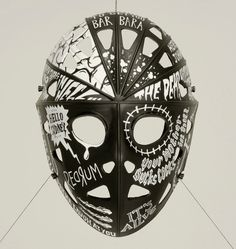 Jason Mask Decorated with Famous Horror Movie Quotes