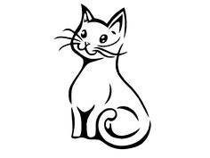small cat tattoo | Free designs - Little smiling cat tattoo wallpaper