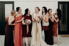 fall colors bridemaids shot at  White Avenue Studios. Nashville, Tn Wedding  www.bluevinylphotography.com