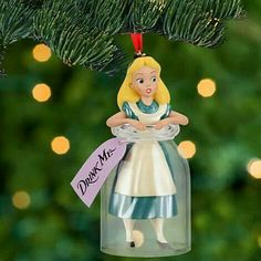 Alice in the Drinking Me Bottle Ornament
