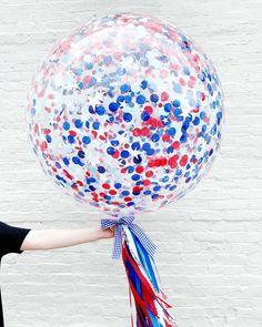 4th of July Confetti Jumbo Balloon. USA - American Decor
