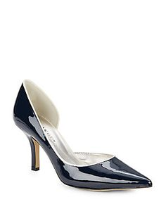 Anne Klein New York Catherine Patent Faux Leather D'Orsay Pumps