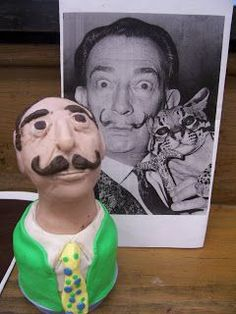 Famous Artist Busts in Sculpey
