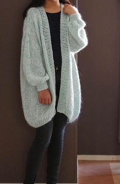 Chunky Cardigan Cozy Wool Sweater Cozy Middle by WannabeDecor ...