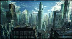 Future cityscape. by ~RobertDBrown