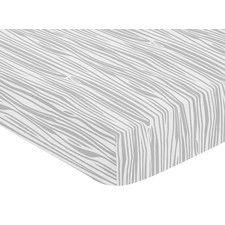 Woodland Animals Wood Grain Print Fitted Crib Sheet