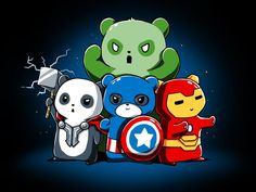 Pandavengers | Funny, cute & nerdy shirts | TeeTurtle | TeeTurtle