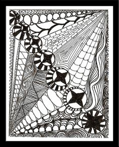 Zentangle Postcard 2 Available by tropicalart77☮, via Flickr